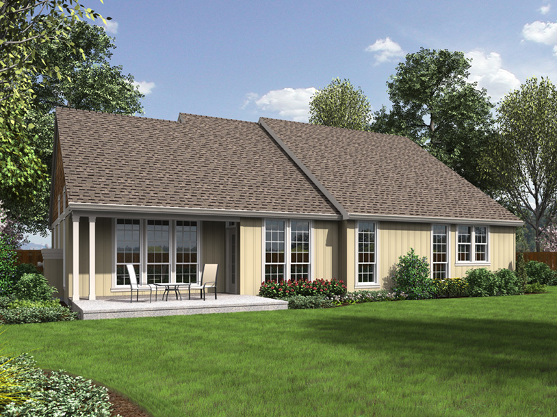 Country House Plan Rear Photo 01 - Springfall Craftsman Ranch Home 011D-0013 | House Plans and More