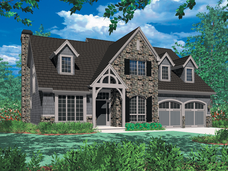 European House Plan Front Image - Harrisburg Lake Craftsman Home 011D-0043 | House Plans and More