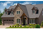 European House Plan Front Photo of House - Harrisburg Lake Craftsman Home 011D-0043 | House Plans and More