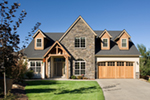 European House Plan Front of Home - Harrisburg Lake Craftsman Home 011D-0043 | House Plans and More