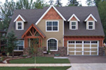 European House Plan Front Photo 11 - Harrisburg Lake Craftsman Home 011D-0043 | House Plans and More