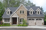 European House Plan Front Photo 04 - Harrisburg Lake Craftsman Home 011D-0043 | House Plans and More