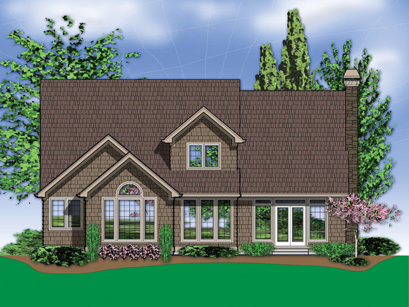 European House Plan Color Image of House - Harrisburg Lake Craftsman Home 011D-0043 | House Plans and More