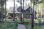 European House Plan Rear Photo 03 - Harrisburg Lake Craftsman Home 011D-0043 | House Plans and More