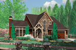 Tudor House Plan Front Image - Fawn Canyon Tudor Style Home 011D-0046   House Plans and More