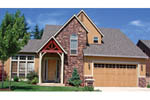 Tudor House Plan Front Photo 03 - Fawn Canyon Tudor Style Home 011D-0046   House Plans and More