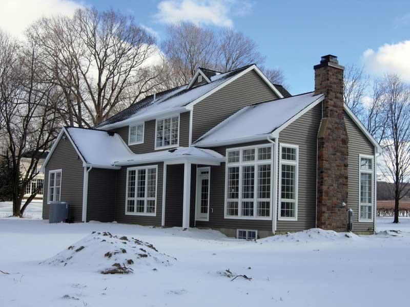 Tudor House Plan Rear Photo 02 - Fawn Canyon Tudor Style Home 011D-0046   House Plans and More