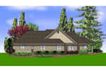 Country House Plan Rear Photo 02 - Washington Craftsman Home 011D-0091 | House Plans and More