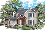 Traditional House Plan Front of House 011D-0102