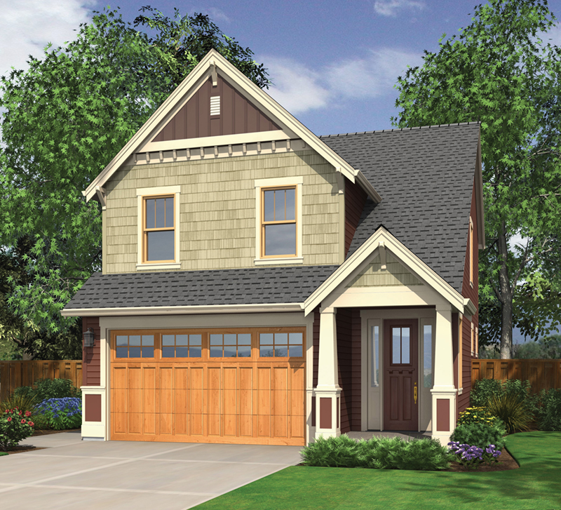 Arts & Crafts House Plan Front of Home - Mallory Creek Craftsman Home  011D-0117 | House Plans and More