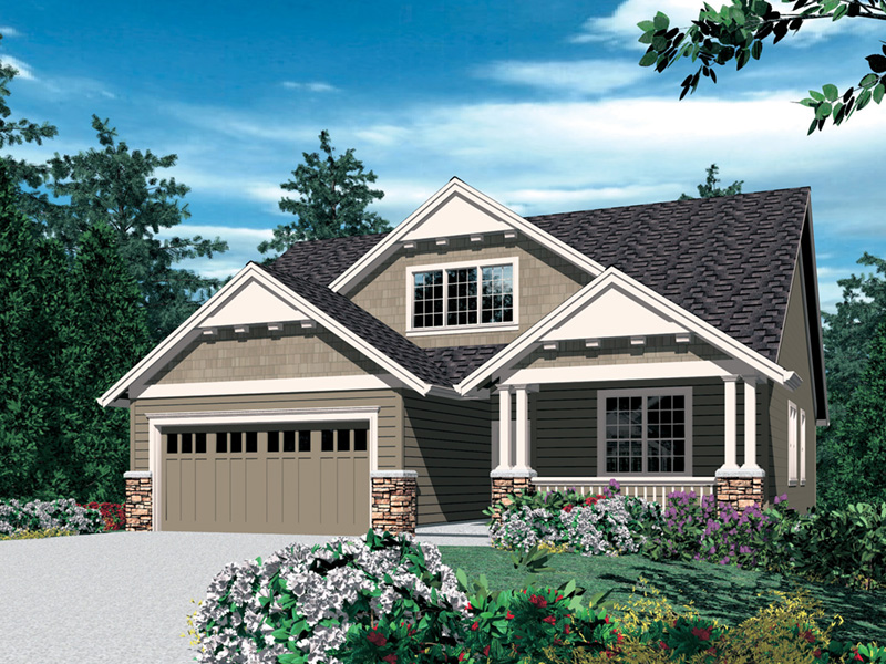 Arts & Crafts House Plan Front Image -  011D-0124 | House Plans and More