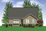 Arts & Crafts House Plan Rear Photo 01 -  011D-0124 | House Plans and More