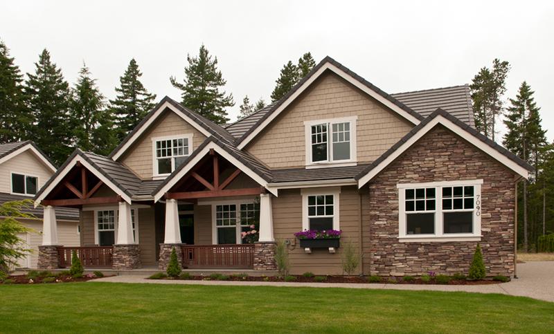 Craftsman House Plan Front of Home - Grandboro Craftsman Home 011D-0169 | House Plans and More