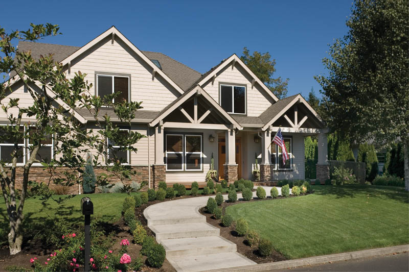 Craftsman House Plan Front Photo 01 - Grandboro Craftsman Home 011D-0169 | House Plans and More