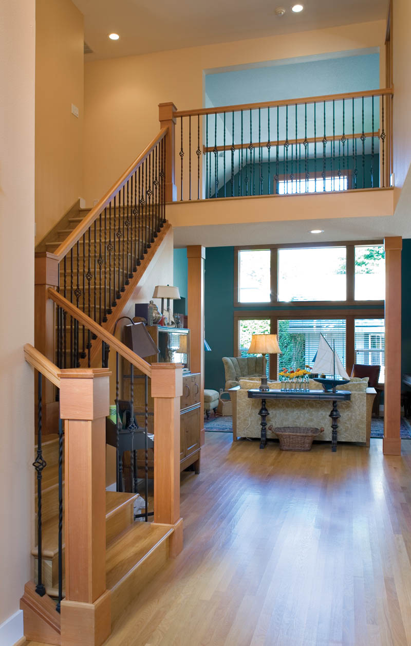 Craftsman House Plan Hall Photo - Grandboro Craftsman Home 011D-0169 | House Plans and More