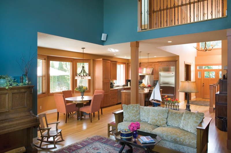 Craftsman House Plan Living Room Photo 02 - Grandboro Craftsman Home 011D-0169 | House Plans and More