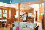 Craftsman House Plan Living Room Photo 03 - Grandboro Craftsman Home 011D-0169 | House Plans and More