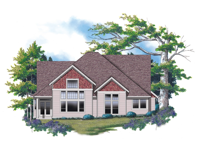 Craftsman House Plan Color Image of House - Grandboro Craftsman Home 011D-0169 | House Plans and More