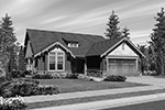 Craftsman House Plan Front Image of House - Longhurst Craftsman Ranch Home 011D-0222 | House Plans and More