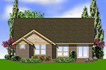 Shingle House Plan Rear Photo 01 - Longhurst Craftsman Ranch Home 011D-0222 | House Plans and More