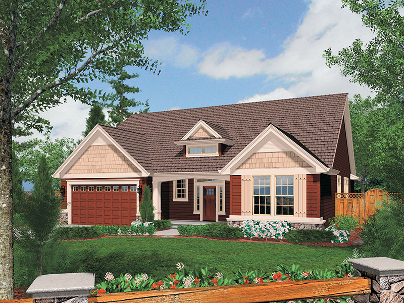 Cabin & Cottage House Plan Front Image - Abbey Hollow Craftsman Home 011D-0223 | House Plans and More