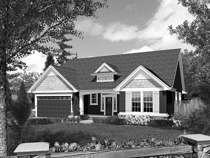 Cabin & Cottage House Plan Front Image of House - Abbey Hollow Craftsman Home 011D-0223 | House Plans and More