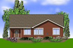 Cabin & Cottage House Plan Color Image of House - Abbey Hollow Craftsman Home 011D-0223 | House Plans and More