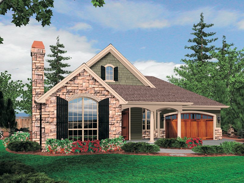 Arts & Crafts House Plan Front Image - Maribeth Country Ranch Home  011D-0224 | House Plans and More