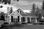 Arts & Crafts House Plan Front Image of House - Maribeth Country Ranch Home  011D-0224 | House Plans and More