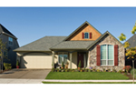 Arts & Crafts House Plan Front of Home - Maribeth Country Ranch Home  011D-0224 | House Plans and More