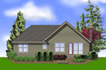 Arts & Crafts House Plan Color Image of House - Maribeth Country Ranch Home  011D-0224 | House Plans and More