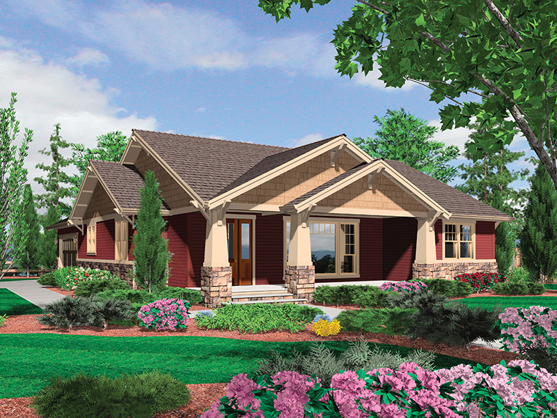 Country House Plan Front Image - Thistle Hill Country Bungalow 011D-0225 | House Plans and More
