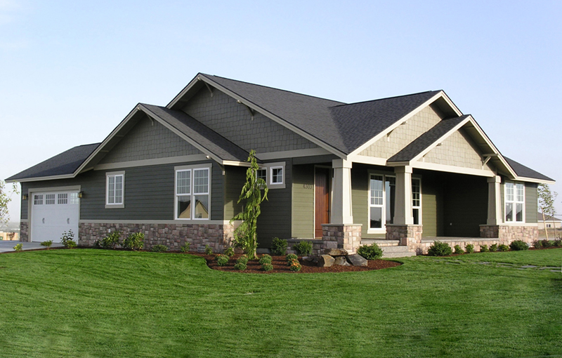 Craftsman House Plan Front of Home - Thistle Hill Country Bungalow 011D-0225 | House Plans and More