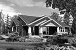 Craftsman House Plan Front Image of House - Thistle Hill Country Bungalow 011D-0225 | House Plans and More