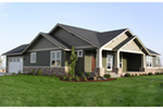 Country House Plan Front of Home - Thistle Hill Country Bungalow 011D-0225 | House Plans and More