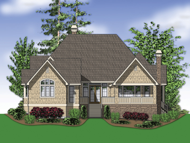 Country House Plan Rear Photo 03 -  011D-0229 | House Plans and More