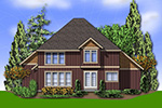Country House Plan Rear Photo 01 - Indian Ridge Rustic Home 011D-0238 | House Plans and More