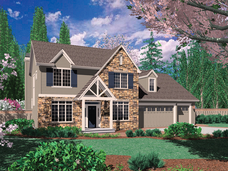 Rustic Home Plan Front Image - Dexter Creek Craftsman Home  011D-0239 | House Plans and More