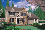Craftsman House Plan Front Image - Dexter Creek Craftsman Home  011D-0239 | House Plans and More