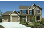 Craftsman House Plan Front of Home - Upton Lane Traditional Home 011D-0245 | House Plans and More