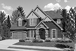 Craftsman House Plan Front Image of House - Barker Woods Rustic Tudor Home 011D-0248 | House Plans and More