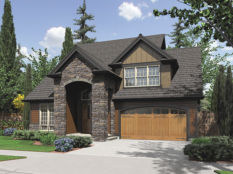 Traditional House Plan Front Image - Marney Rustic Tudor Home 011D-0250 | House Plans and More