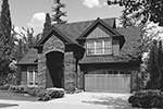 Cabin & Cottage House Plan Front Image of House - Marney Rustic Tudor Home 011D-0250 | House Plans and More