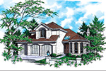 European House Plan Front Image -  011D-0257 | House Plans and More