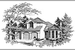 European House Plan Front Image of House -  011D-0257 | House Plans and More