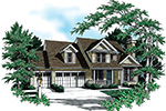 Country House Plan Front Image - Ridgefield Lake Country Home 011D-0258 | House Plans and More