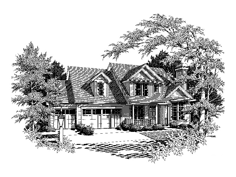 Southern House Plan Front Image of House - Ridgefield Lake Country Home 011D-0258 | House Plans and More
