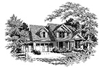Country House Plan Front Image of House - Ridgefield Lake Country Home 011D-0258 | House Plans and More