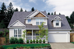 Country House Plan Front of Home - Ridgefield Lake Country Home 011D-0258 | House Plans and More