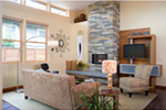 Contemporary House Plan Living Room Photo 03 - Juno Modern Home 011D-0266 | House Plans and More